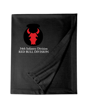 34th Infantry Division Embroidered Dryblend Stadium Blanket