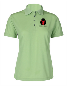 Ladies 34th Infantry Division Embroidered Moisture Wick Polo Shirt