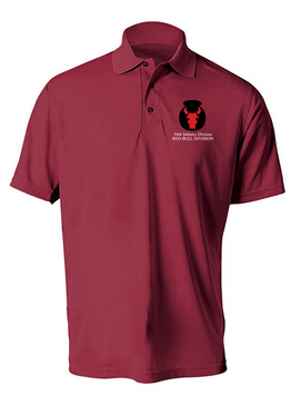34th Infantry Division Embroidered Moisture Wick Polo