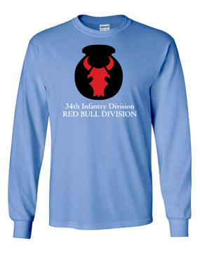 34th Infantry Division Long-Sleeve Cotton T-Shirt  (FF)