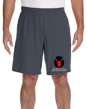 34th Infantry Division Embroidered Gym Shorts