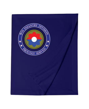 9th Infantry Division Embroidered Dryblend Stadium Blanket -Proud
