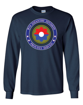 9th Infantry Division Long-Sleeve Cotton Shirt  -Proud  (FF)