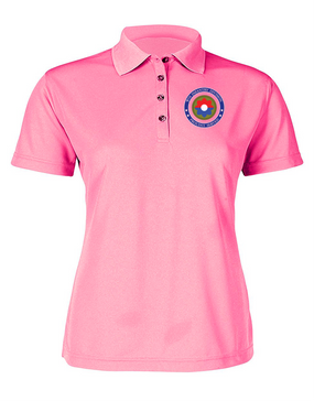 9th Infantry Division Ladies Embroidered Moisture Wick Polo Shirt-Proud