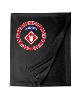 20th Engineer Brigade (Airborne) Dryblend Stadium Blanket-Proud
