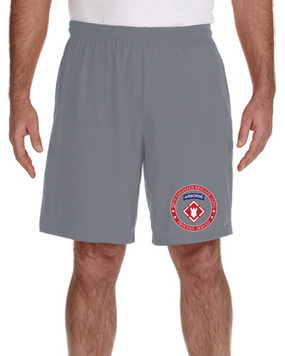 20th Engineer Brigade (Airborne) Embroidered Gym Shorts-Proud