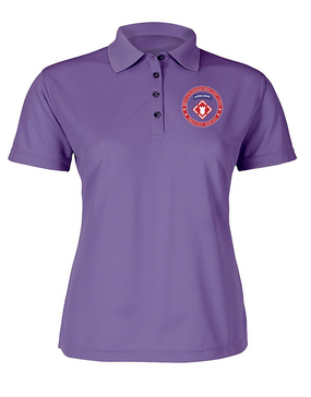 Ladies 20th Engineer Brigade (Airborne) Embroidered Moisture Wick Polo Shirt-Proud