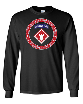 20th Engineer Brigade (Airborne) LS Cotton Shirt-Proud (FF)