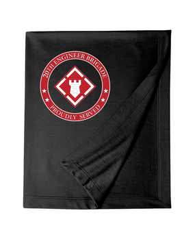 20th Engineer Brigade  Embroidered Dryblend Stadium Blanket-Proud