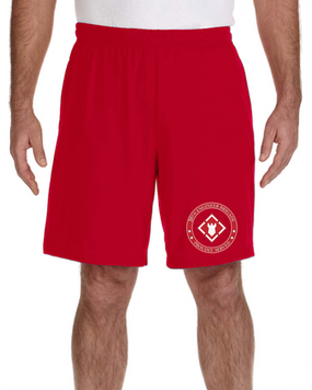20th Engineer Brigade Embroidered Gym Shorts-Proud