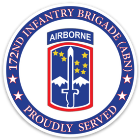 172nd Infantry Brigade (Airborne) Vinyl Cut Decal