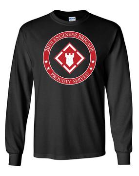20th Engineer Brigade Long-Sleeve Cotton T-Shirt-Proud  (FF)
