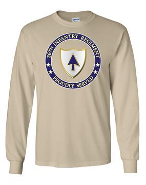26th Infantry Regiment Long-Sleeve Cotton Shirt-Proud (FF)