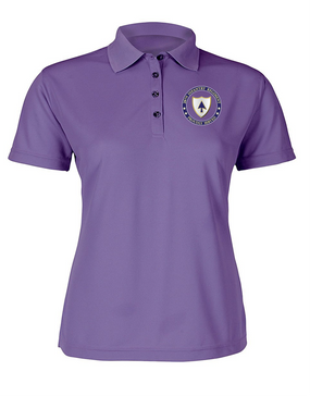 Ladies 26th Infantry Regiment  Embroidered Moisture Wick Polo Shirt-Proud