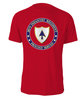 26th Infantry Regiment Cotton T-Shirt-Proud (FF)