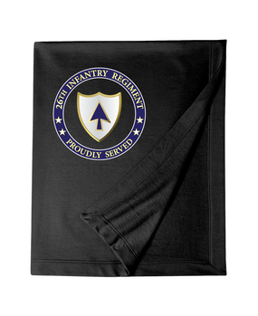 26th Infantry Regiment Embroidered Dryblend Stadium Blanket-Proud