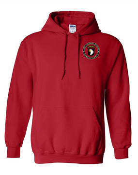 101st Airborne Division Embroidered Hooded Sweatshirt-Proud