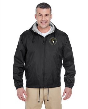 101st Airborne Division Embroidered Fleece-Lined Hooded Jacket -Proud