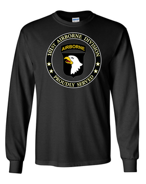 101st Airborne Division Long-Sleeve Cotton Shirt -Proud (FF)