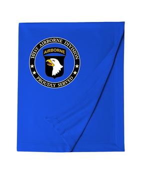 101st Airborne Division Embroidered Dryblend Stadium Blanket-Proud