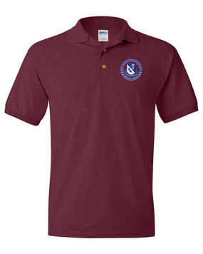 507th Parachute Infantry Regiment Embroidered Cotton Polo Shirt-Proud