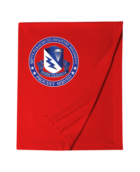507th Parachute Infantry Regiment Embroidered Dryblend Stadium Blanket-Proud