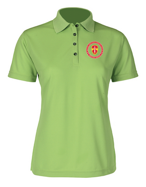 MACV Ladies Embroidered Moisture Wick Polo Shirt-Proud