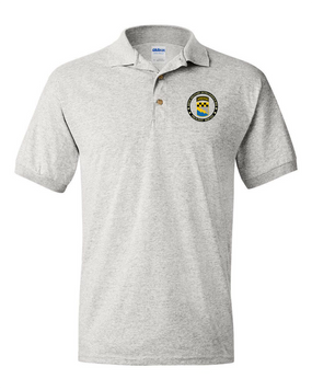 525th Expeditionary MI Brigade (Airborne) Embroidered Cotton Polo Shirt-Proud