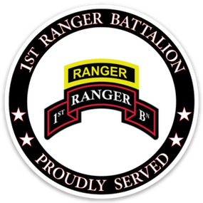 1-75th Ranger Battalion Vinyl Cut Decal