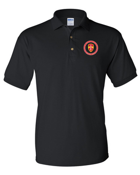 MACV Embroidered Cotton Polo Shirt-Proud