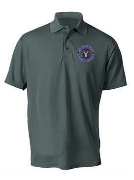 "196th Light Infantry Brigade ""Vietnam"" Embroidered Moisture Wick Polo  Shirt-Proud"