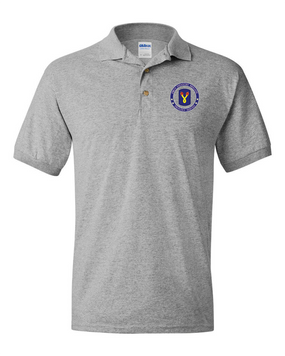 196th Light Infantry Brigade  Embroidered Cotton Polo Shirt-Proud
