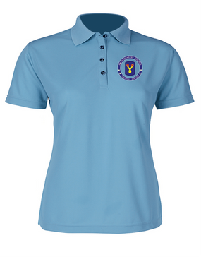196th Light Infantry Brigade  Ladies Embroidered Moisture Wick Polo Shirt-Proud