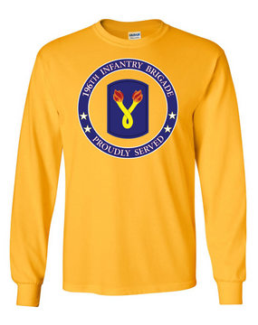 196th Light Infantry Brigade Long-Sleeve Cotton T-Shirt-Proud (FF)
