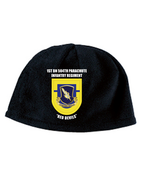 1- 504th Crest Flash Premium Embroidered Fleece Beanie