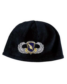 504th Basic Wings Premium Embroidered Fleece Beanie