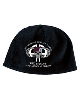 1-325 Punisher Embroidered Fleece Beanie