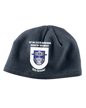 1-325 Crest & Flash Embroidered Fleece Beanie