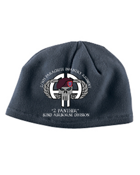 2-505 Punisher Embroidered Fleece Beanie