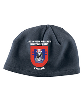 2-505 Crest Flash Embroidered Fleece Beanie