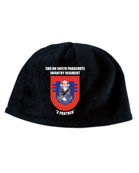 3-505 Crest Flash Embroidered Fleece Beanie