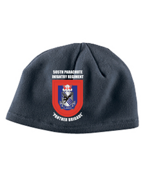 505th Crest Flash Embroidered Fleece Beanie