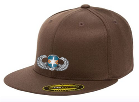 313th MI Basic Wings Embroidered Flexdfit Baseball Cap