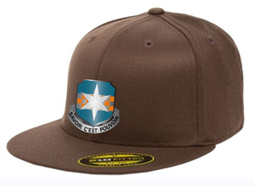 313th MI Crest Embroidered Flexdfit Baseball Cap