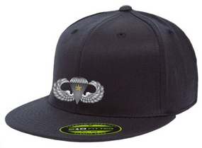 Basic Wings w/ Combat Jump Embroidered Flexdfit Baseball Cap