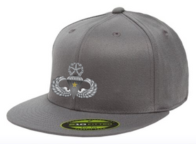 Master Wings w/ Combat Jump Embroidered Flexdfit Baseball Cap