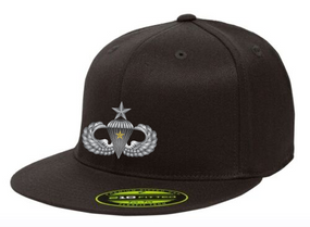 Senior Wings w/ Combat Jump Embroidered Flexdfit Baseball Cap