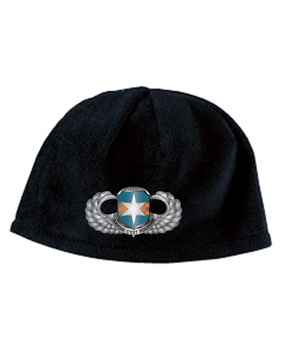 313th MI Basic Wings Embroidered Fleece Beanie
