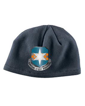 313th MI Crest Embroidered Fleece Beanie