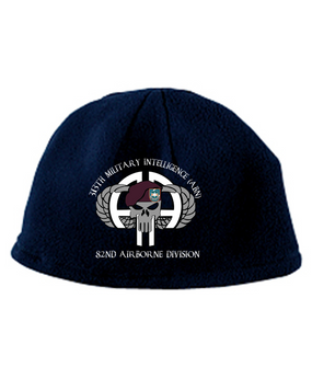 313th MI Punisher Embroidered Fleece Beanie